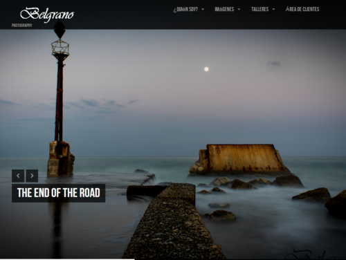 Diseño de página web en Málaga para fotografos