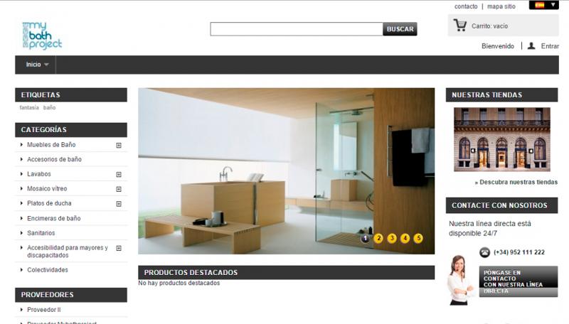 Diseño de Tienda online Corporativa para empresa de Baño