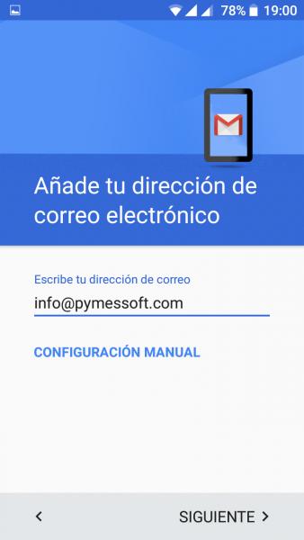 Configurar el correo en el móvil